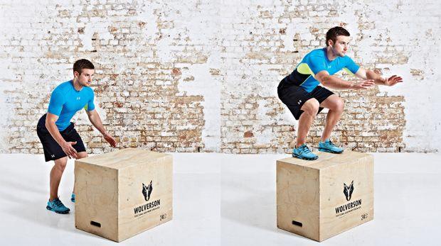 Box Jumps - Calf Workout at Home No Equipment