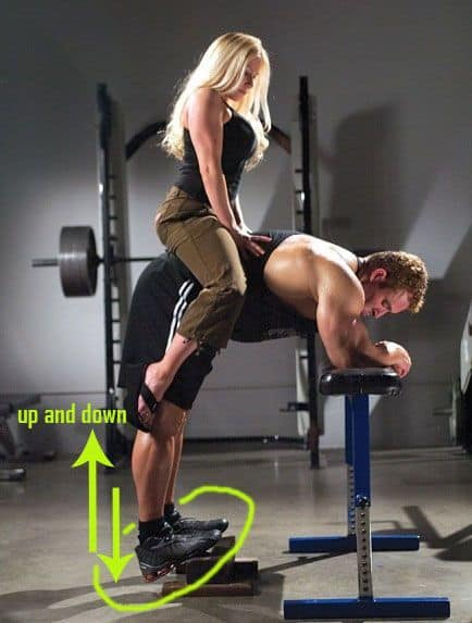 Calf Workout Home - Donkey Calf Raises With Weight