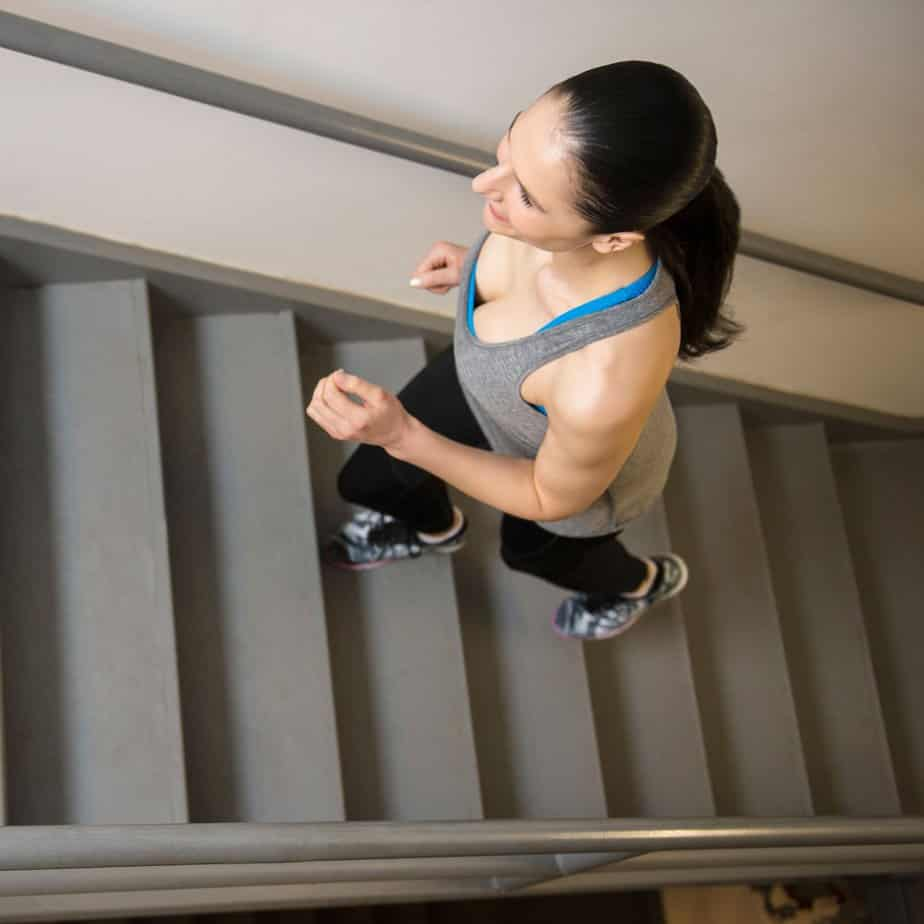Stairs Workout - Part Of Calf Workout At Home No Equipment