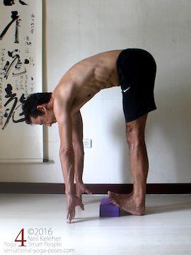 standing-forward-bend-calf-stretch