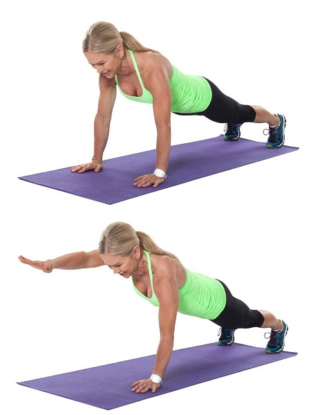 Core Exercises for Men at Home - One Arm Plank