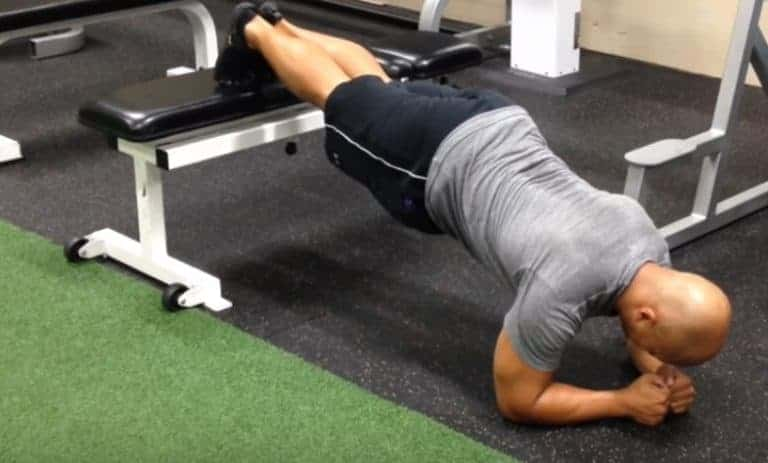 Feet Elevated Plank - Shoulder Workout At Home