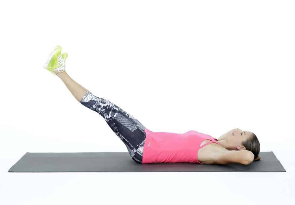 Half Leg Raises - Core exercises at home