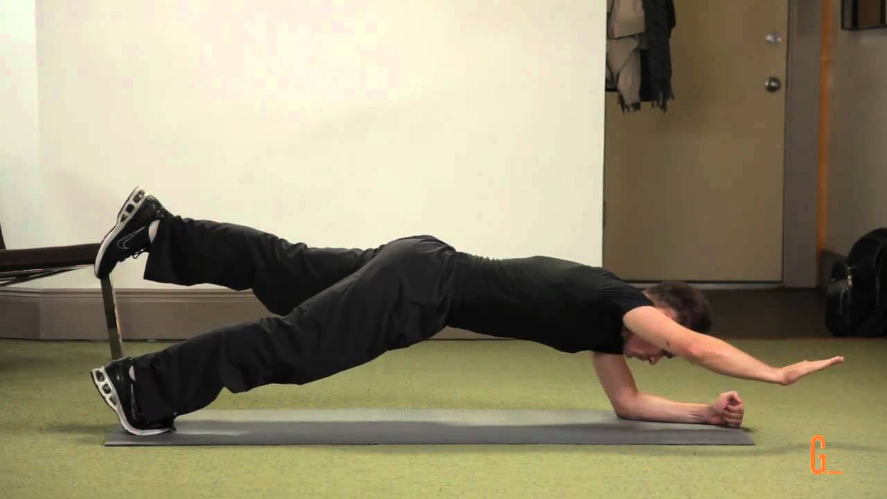 One leg one arm plank - Plank for Beginners