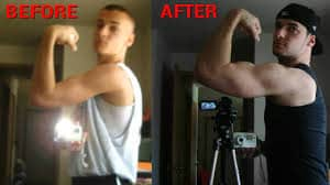 Push Ups Before And After - Biceps Muscle