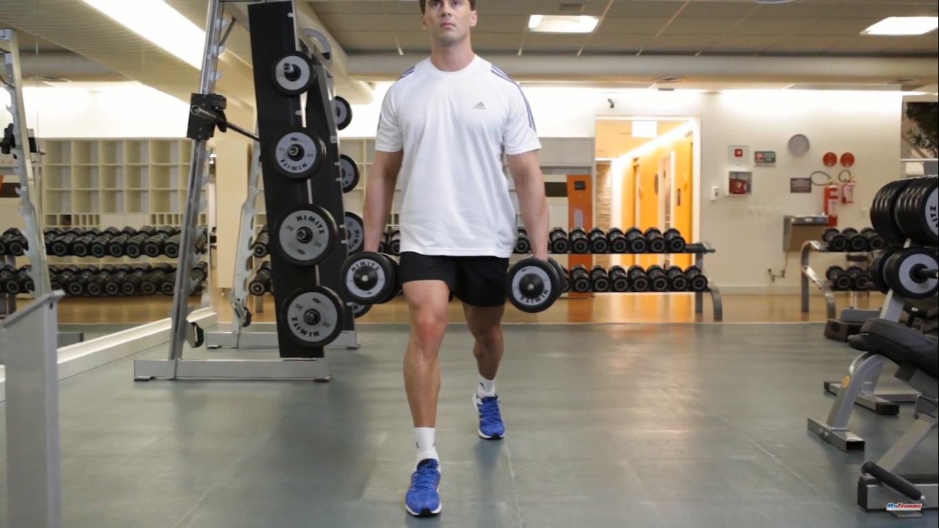 Lunges With Dumbbells - Step 2
