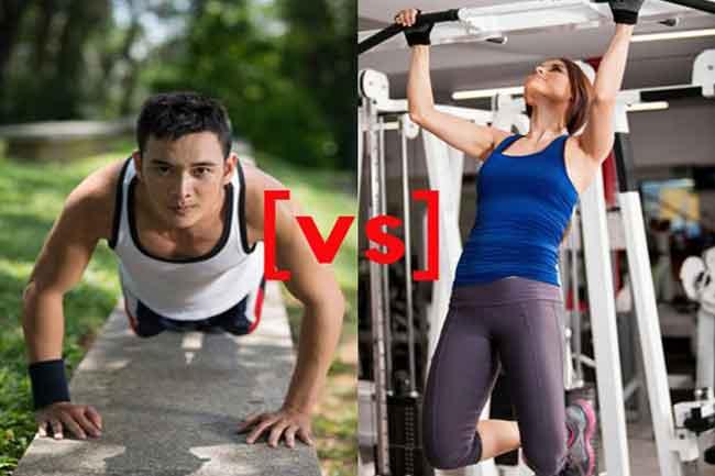 Push Ups Vs Pull Ups - Exercise Pose
