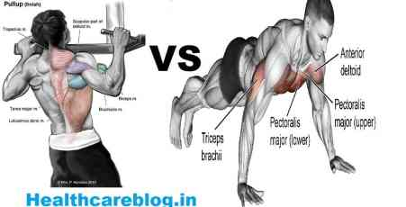 Push Ups Vs Pull Ups - Muscles Involved