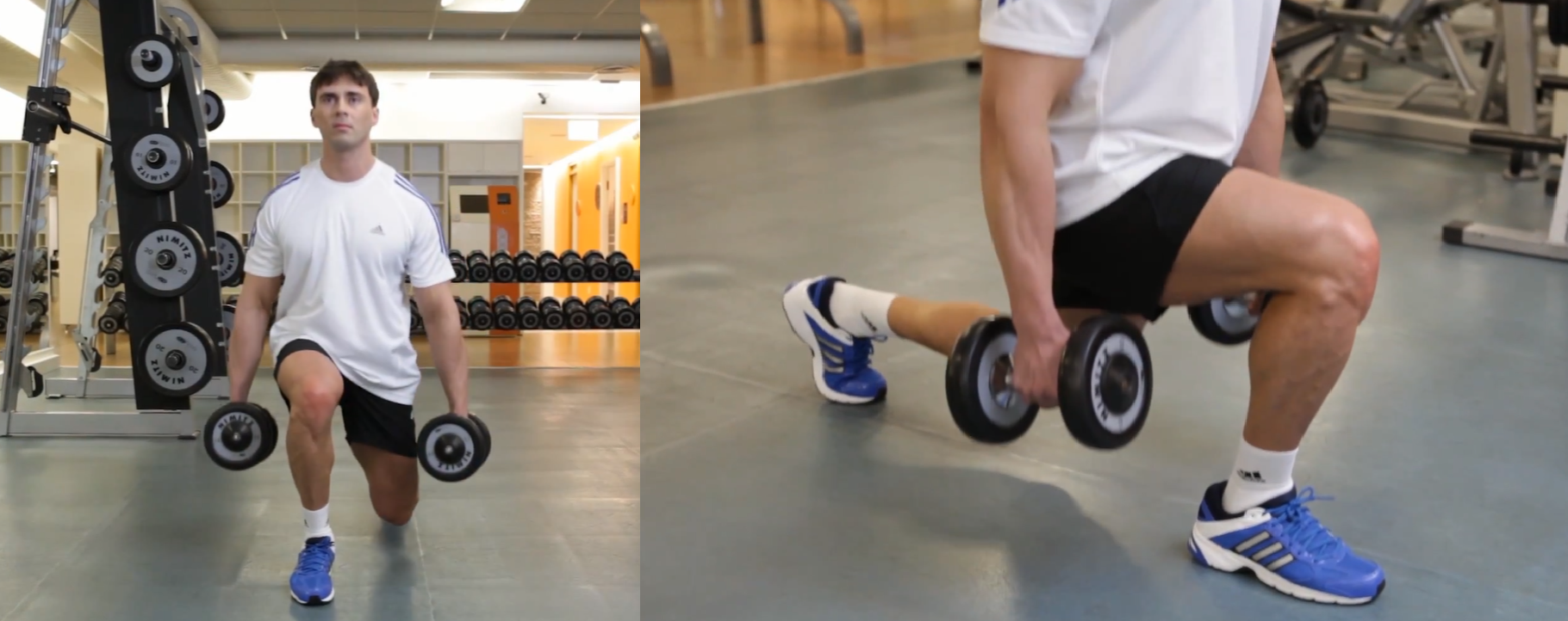 Lunges With Dumbbells - Step 3