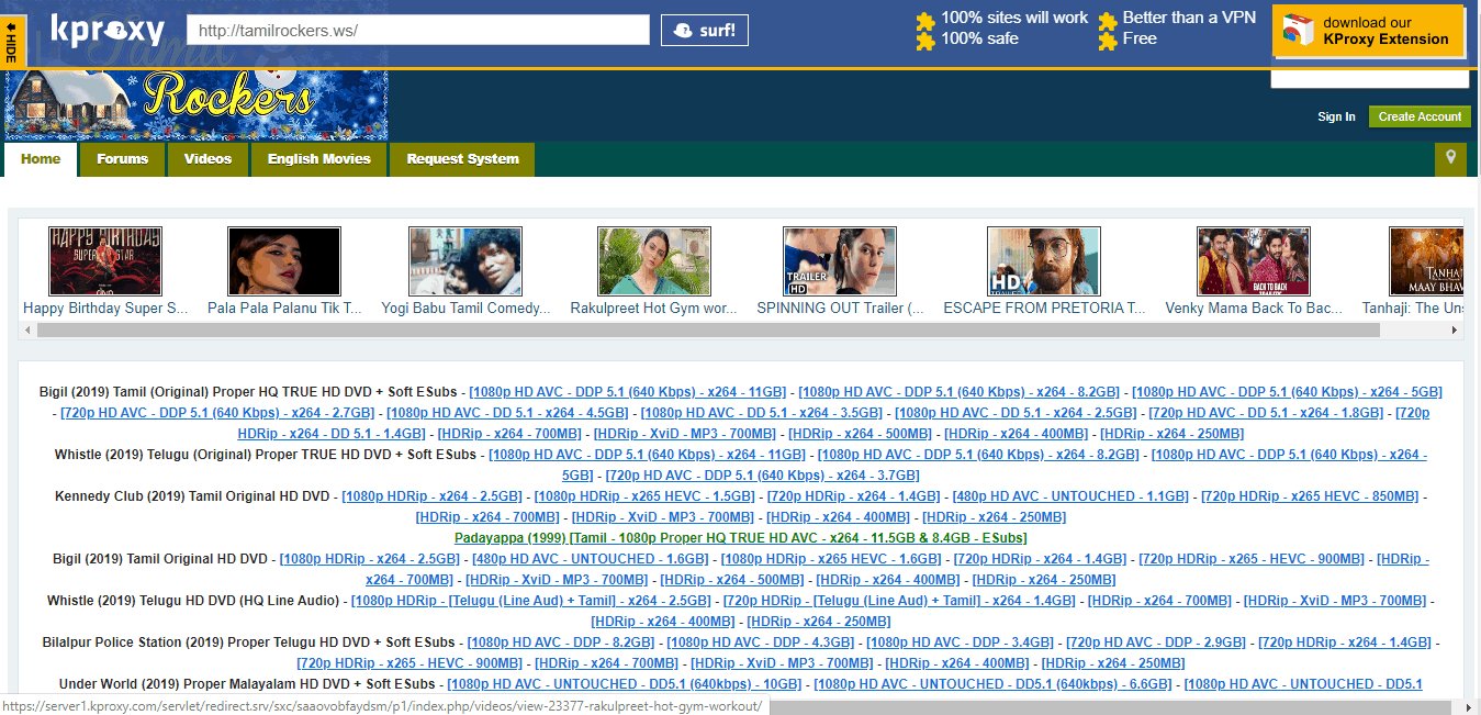 Screenshot of Step 3 - Tamilrockers New Link