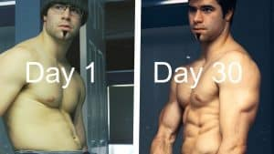Push ups before and after