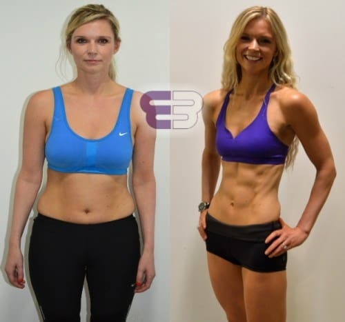 crunches before and after images - Abs {Women}