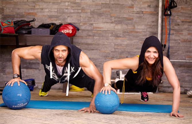 Hrithik Roshan Body workout - Chest