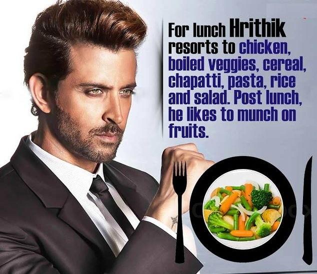 Hrithik Roshan - Diet Schedule