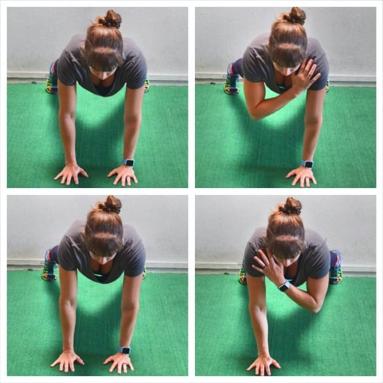 plank for chest - Plank taps