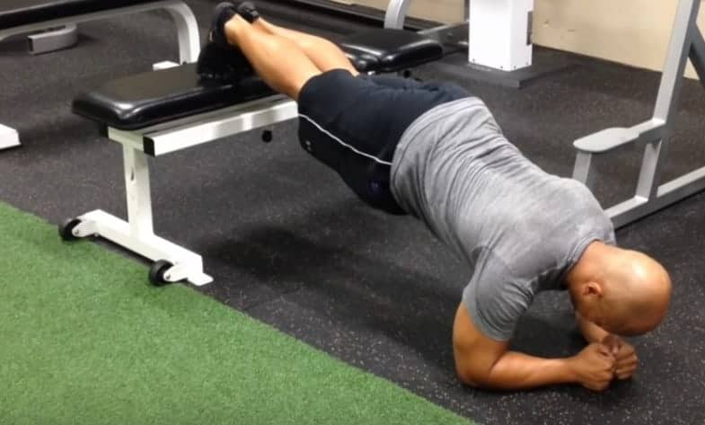 Feet Elevated Plank - Types of plank