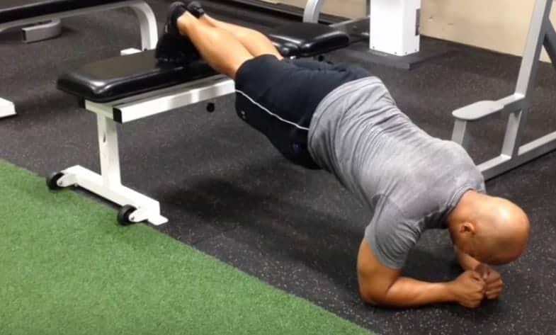 Feet Elevated Plank - Step 3