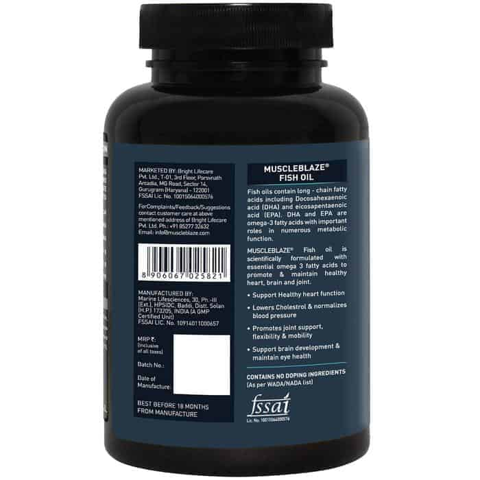 MuscleBlaze Fish Oil - Items Used