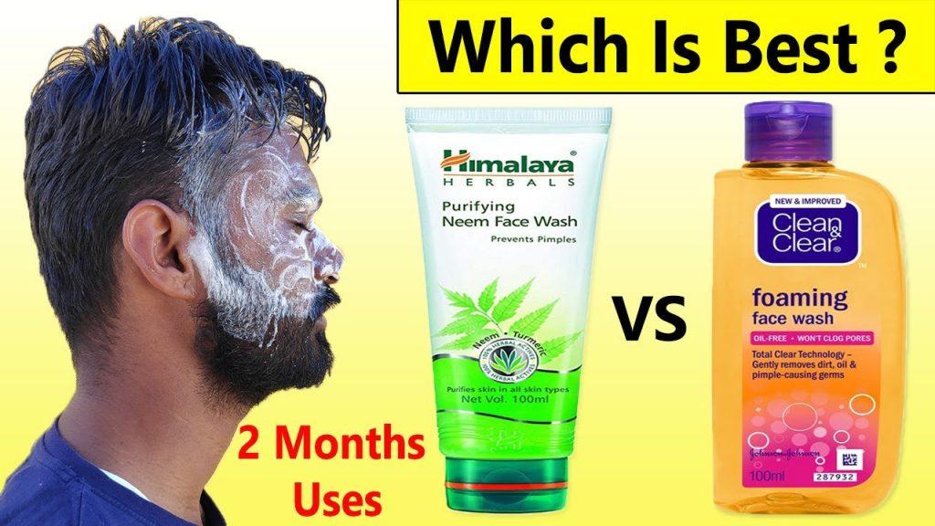 Himalaya Neem Face Wash VS Clean & Clear Face Wash - Healthcare Blog